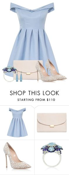 """""""Aquamarine"""" by tlb0318 on Polyvore featuring Chi Chi, Mansur Gavriel and Casadei"""