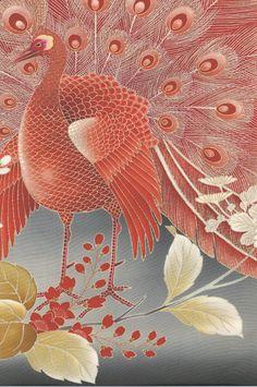 detail of silk Kurotomesode, Taisho to early Showa era (1912-1935). Yorke Antique Textiles
