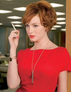 Joan in Mad Men played by the lovely Christina Hendricks.