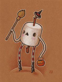 Marshmallow Guy - sketch by grelin-machin on deviantART Traditional Artwork, Sticker Ideas, Halloween Art, Marshmallow, Emoji, Sketch, Snoopy, Clip Art, Kawaii