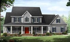 Plan W51118MM: Country Beauty with Wraparound Porch - I could totally rework this one to get the master upstairs! Love the porches!