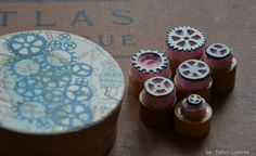 cogs and wheels stamps - how cool!