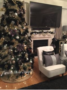 A touch of black Christmas tree