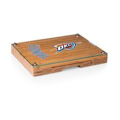 Oklahoma City Thunder Cutting Board & Tray and Cheese Tools Set w/Laser Engraving
