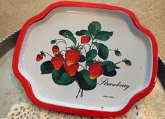I have several different vintage trays with strawberries on it, but not this pattern.