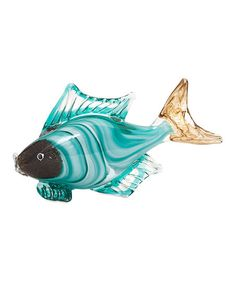 IMAX Croix Glass Fish Figurine | zulily