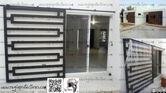 Window Grill Design Modern, Balcony Grill Design, Grill Door Design, Door Grill, Steel Grill Design, Steel Gate Design, Window Security, Security Doors, Front Doors With Windows