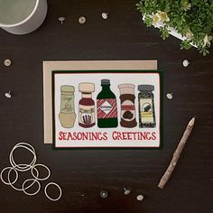 And the aspiring chef. 21 Totally Unexpected Holiday Cards To Send This Year Funny Holiday Cards, Christmas Card Sayings, Holiday Messages, Christmas Greeting Cards, Christmas Humor, Christmas Greetings, Greeting Cards Handmade, Christmas Crafts, Xmas