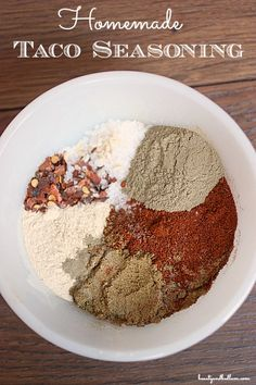 We need to be able to actually pronounce the ingredients in the things we make. We use taco seasoning nearly every day, so homemade it is. Healthy and inexpensive!