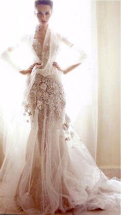 Robe de mariée ~ Colette Le Mason @}-,-;---