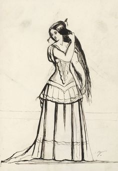 A female figure  circa 1855 by Empress Friedrich   Royal Collection