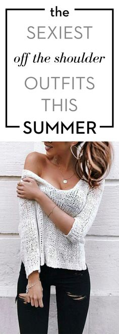The sexiest off the shoulder outfits this summer