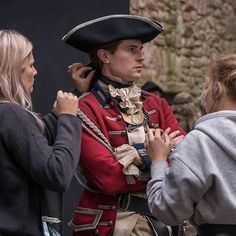 "RepostBy @outlander_starz: ""What's the secret to playing John Grey? These two women from costume and make-up, who have the tough job of making me look the part. -@mrdavidberry"" (via #InstaRepost @AppsKottage)"