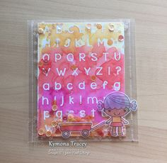 Back to school was create with Your Next Stamp Phoebe with a Wagon Stamp Set and die and their Alpha Stamp Set