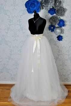 70ed06e65d BRIDAL SKIRT WEDDING TULLE SKIRT WHITE WEDDING TULLE SKIRT CUSTOM MADE MAXI  WEDDING WOMEN SKIRT IVORY