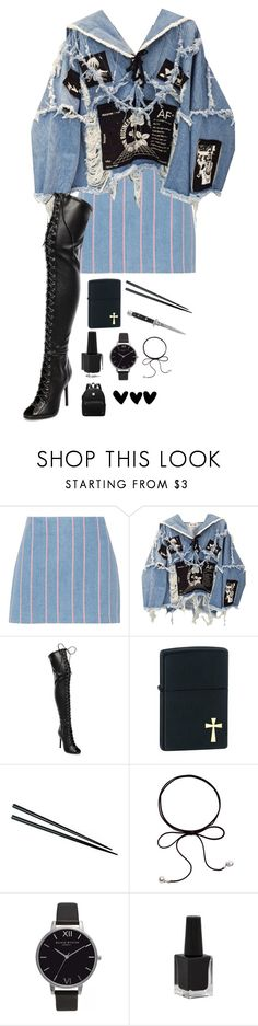 """In My Direction"" by emmasopheah ❤ liked on Polyvore featuring T By Alexander Wang, BLK DNM, Schutz, Zippo, Olivia Burton, Rimmel and Switchblade Stiletto"