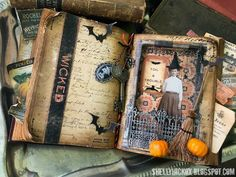 Wicked Halloween Altered Book