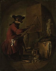 Jean Siméon Chardin (1699-1779), Le singe peintre ('The Monkey Painter'), oil on canvas, 82.5 x 65.4 cm