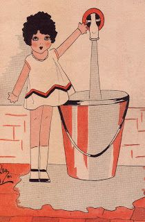 Illustration from French children's book, 'Pierrette,' ca. 1920s.