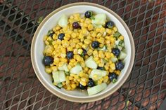 Blueberry Corn Salad, the perfect sweet and savory blend