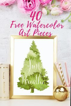 40 FREE beautiful watercolor motivational art printables. Life can be tough sometimes. Whether it's starting that new business, committing to getting healthy, or finally taking that first step towards a big change you've always dreamed of... You. Got. This. Download this beautiful free watercolor motivational art pack and place them in key places that you'll notice throughout the day. #printables #motivation #watercolor #art #wallart
