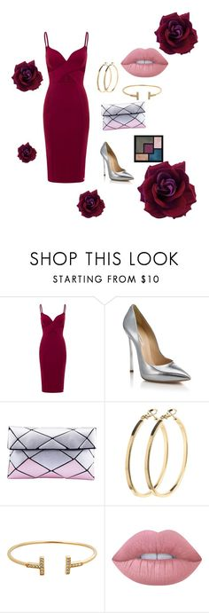 """petal"" by anjola112 on Polyvore featuring Aloura London, Casadei, Pieces, Lime Crime and Yves Saint Laurent"