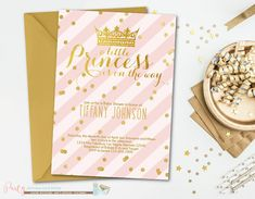 Pink and Gold Baby Shower Invitation by PartyInvitesAndMore