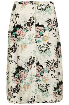 Topshop Watercolour Carnation Midi Skirt on shopstyle.com