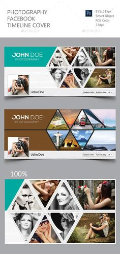 Photography Facebook Timeline Cover Template PSD #design #social Download: http://graphicriver.net/item/photography-facebook-timeline-cover/12043549?ref=ksioks