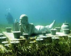 Cancun World's Largest Underwater Museum is World's Most Unique Travel Destination. Have been there, will go back to see this.