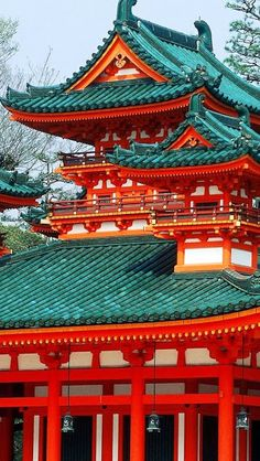 Heian Jingu shrine in Kyoto, Japan. Kyoto is so gorgeous. Photo Japon, Japan Photo, Japan Picture, Places Around The World, Around The Worlds, Beautiful World, Beautiful Places, Amazing Places, Chinese Architecture