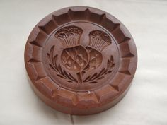 Vintage Scottish thistle shortbread or butter biscuit or cookie mould