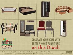 Decorate Your Home With Better Home Furniture ON THE DIWALI...  #Better #Home #WoodenFurniture #AhmedabadFurniture #BETTERHOME