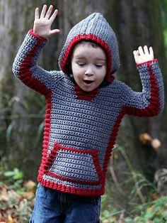 Crochet - Peek-a-Boo Hoodie - #REC1722