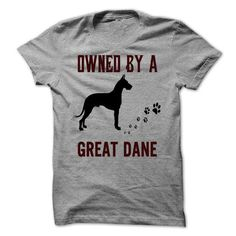 Owned by a Great Dane - #custom hoodies #music t shirts. BUY TODAY AND SAVE => https://www.sunfrog.com/Pets/Owned-by-a-Great-Dane.html?id=60505
