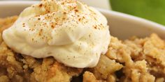Slow Cooker Apple Pecan Crisp - EASY AND YUMMY DESSERT!  www.GetCrocked.com