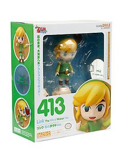 From the popular video game <i>The Legend of Zelda: The Wind Waker</i> comes a rerelease of Nendoroid Link! His Hero's Sword, Hero's Shield, a Heart Container and the important Wind Waker itself are all included to truly bring out the Legend of Zelda experience!<br><br>Link also comes with a large variety of expressions to bring out his character - including his standard serious looking expression, a smiling expression, a combat expression and a nervous expression! He even comes with effect…