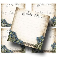 2x2 LE JARDIN BLUEBELLS Earring Cards Jewelry cards by JulryPartZ, $4.00