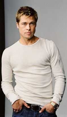 Brad Pitt - literally the sexiest man to ever walk this planet and he ages like a fine wine.