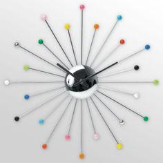 Rainbow coloured clock
