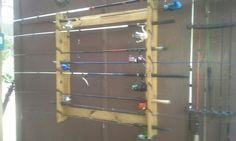 Fishing Rod Rack made by Ginnie Jones