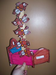 5 Little Monkeys Jumping on the Bed Circle Time Activity - Making Learning Fun