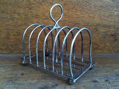 Vintage English Simple Metal Toast Rack by EnglishShop on Etsy, $49.00