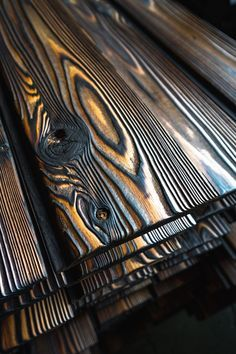Pika-Pika: Yakisugi Charred Wood Siding See our selection of authentic Japanese yakisugi (shou sugi ban) products readily available throughout the US & Canada. Contact us for a project quote. Woodworking Shop, Woodworking Crafts, Woodworking Plans, Woodworking Videos, Woodworking Quotes, Green Woodworking, Diy Wood Projects, Wood Crafts, Fabric Crafts