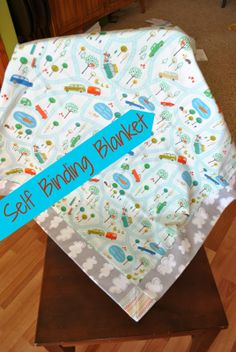 Self-Binding Baby Blanket