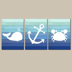 Nautical Wall Art CANVAS or Prints - for E's room                                                                                                                                                                                 More
