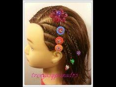 Trenzas para niñas de cabello corto - Braids for girls with short hair