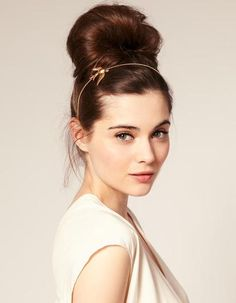 Bun With a Headband: Heading to Sunday brunch with the girls means you're probably working with hair that's left over from Saturday night. G...