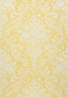 ALICIA, Yellow, T89121, Collection Damask Resource 4 from Thibaut