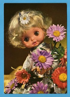 Vintage doll card from the 60s. Illustration of by bluumievintage